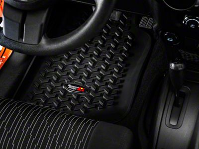Rugged Ridge All Terrain Front & Rear Floor Liners - Black (07-18 Jeep Wrangler JK 2 Door)