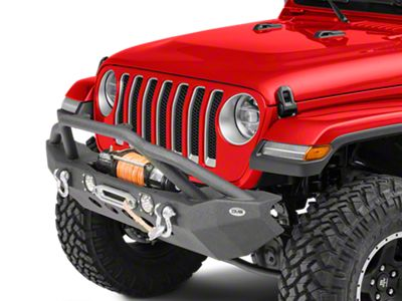 DV8 Off-Road LSF-8 Steel Mid Width Front Bumper w/ LED Lights (2018 Jeep Wrangler JL)