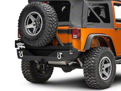 DV8 Off-Road RS-1 Rear Bumper w/ Tire Carrier (07-18 Jeep Wrangler JK)