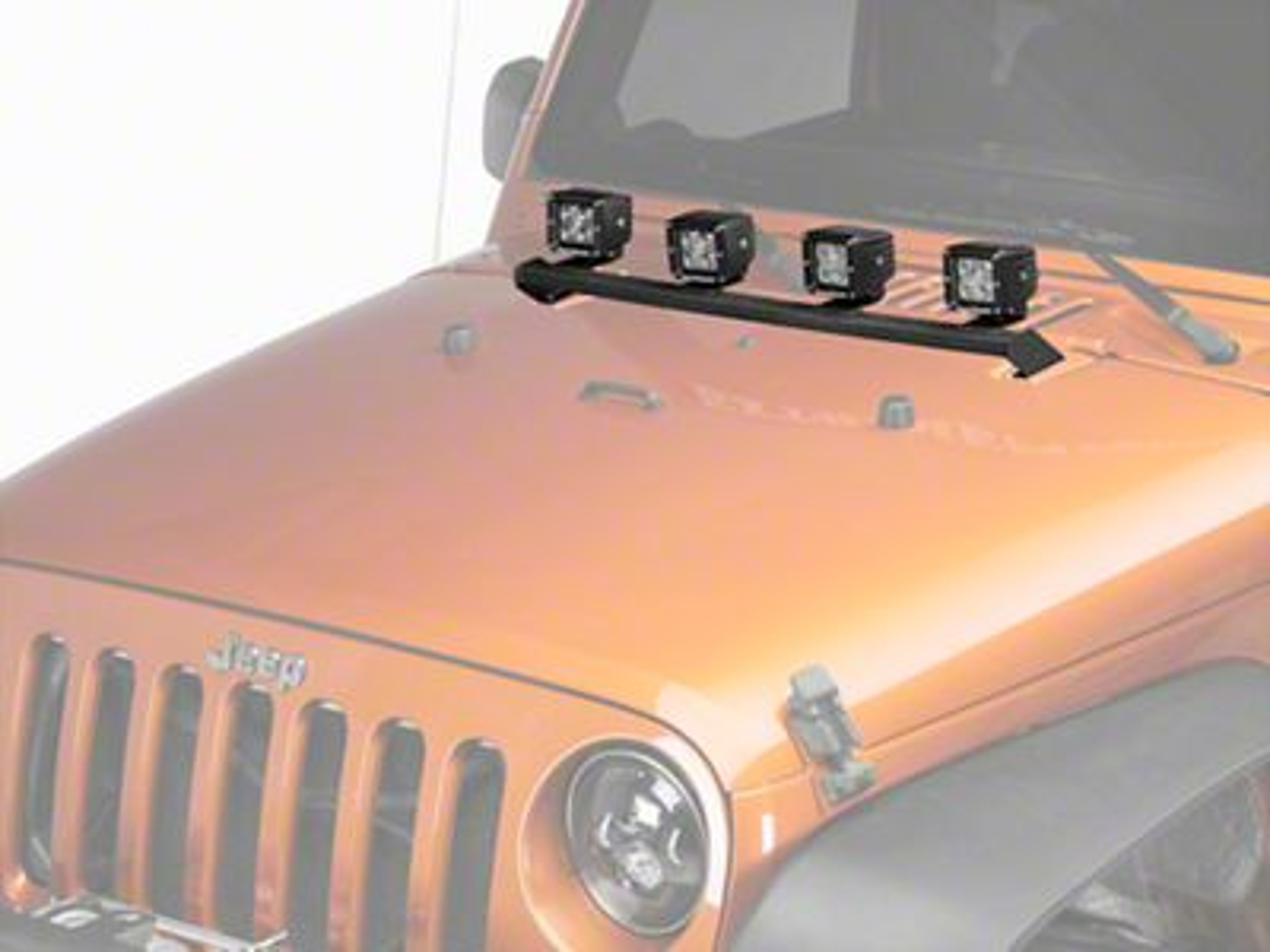 DV8 Off-Road Hood Light Bar Mounting Bracket (07-18 Jeep Wrangler JK)