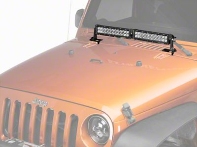 DV8 Off-Road Cowl Hood Hinge Light Bar Mounting Bracket (07-18 Jeep Wrangler JK)