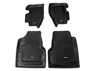 Rugged Ridge All Terrain Front & Rear Floor Liners - Black (97-06 Jeep Wrangler TJ)