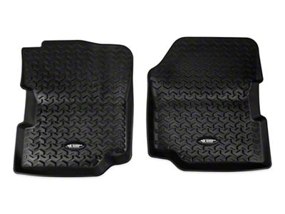 Rugged Ridge All Terrain Front Floor Liners - Black (87-95 Jeep Wrangler YJ)