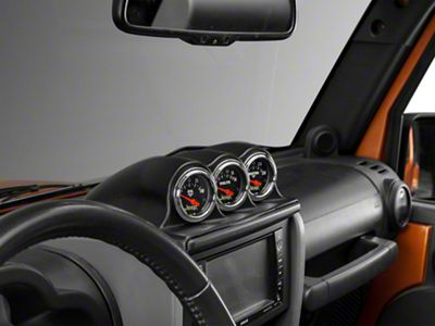 Auto Meter Dash Top Gauge Pod - Triple (07-10 Jeep Wrangler JK)