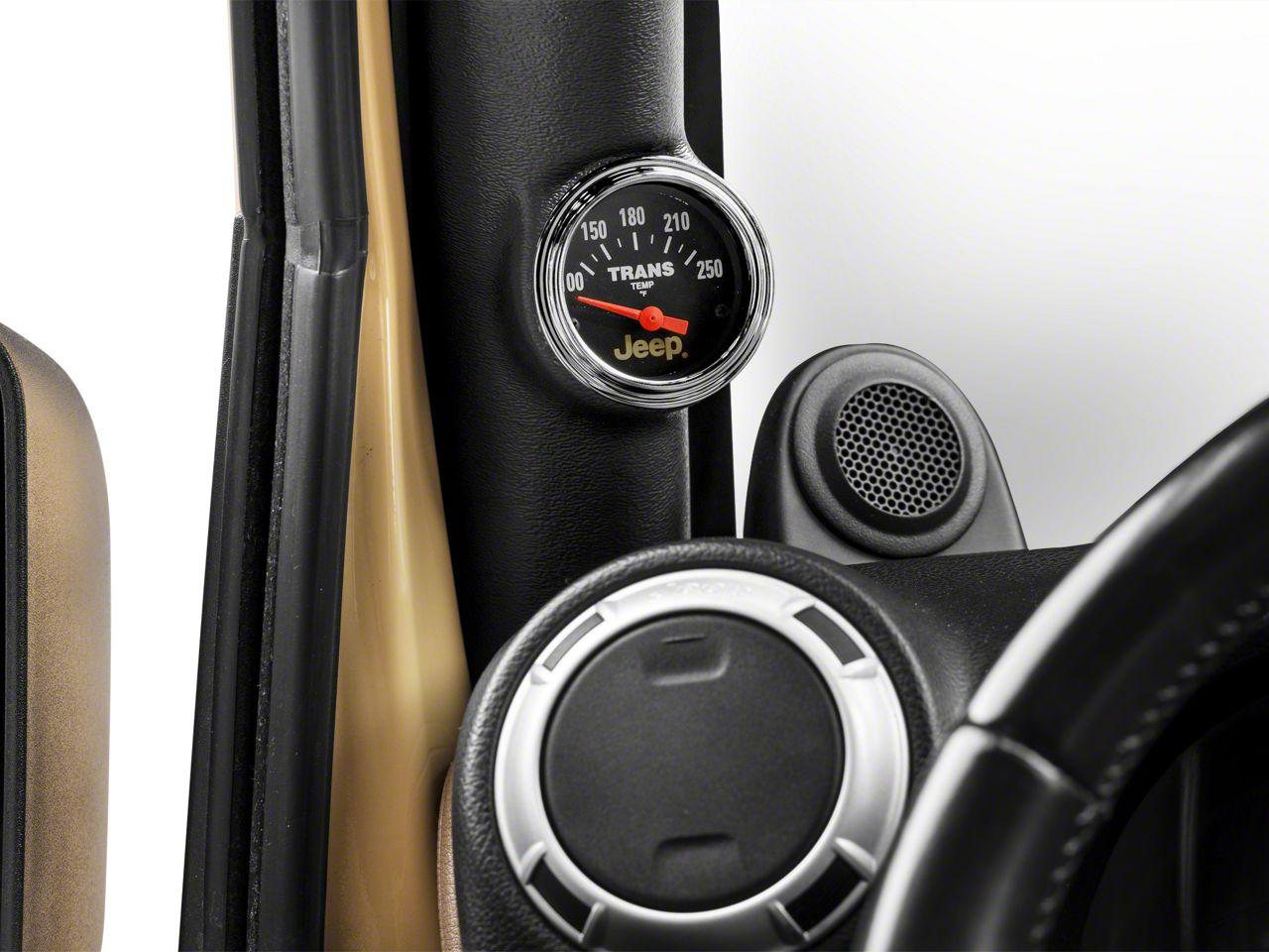Auto Meter Transmission Temperature Gauge - Electrical - Jeep Logo (87-18 Jeep Wrangler YJ, TJ, JK & JL)
