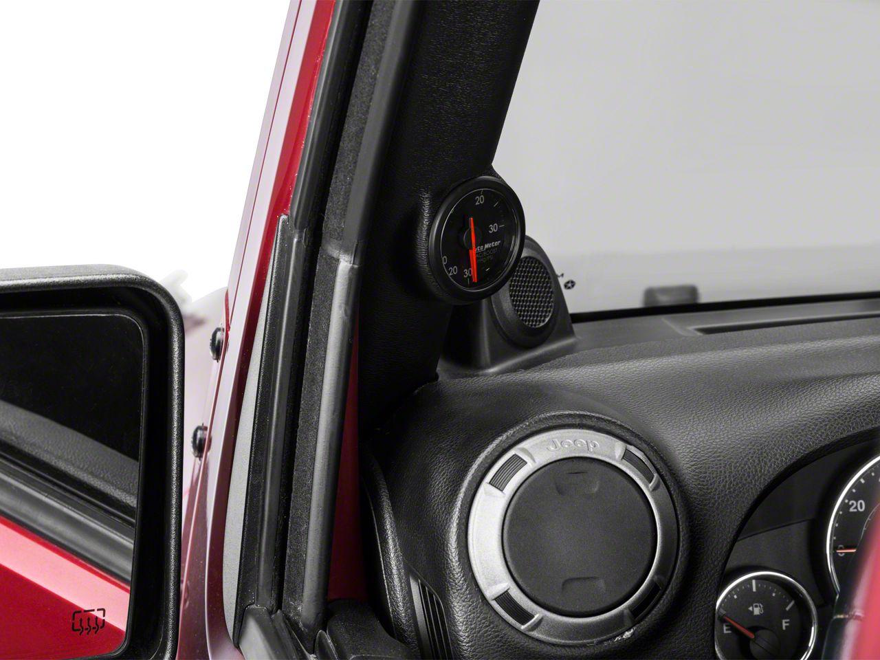 Auto Meter AirDrive Boost/Vac Gauge - Electrical (97-18 Jeep Wrangler TJ, JK & JL)