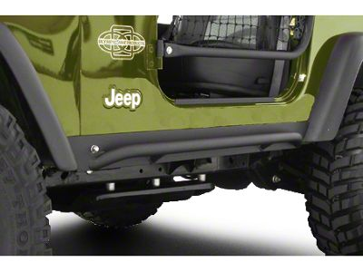 Olympic 4x4 All Terrain Slider Rock Rails - Textured Black (97-06 Jeep Wrangler TJ, Excluding Unlimited)