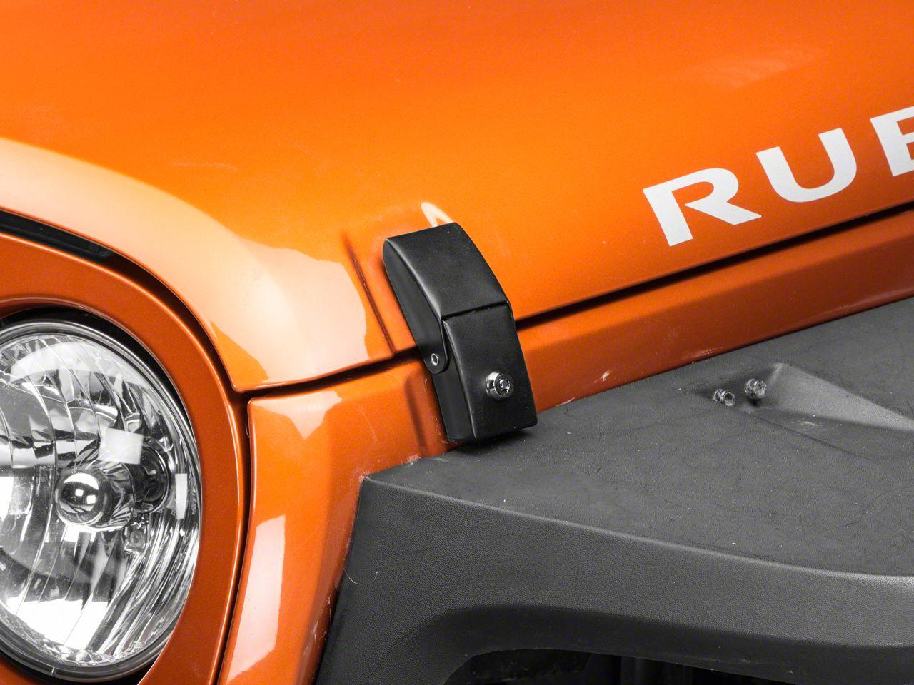RedRock 4x4 Locking Hood Catch Kit (07-18 Jeep Wrangler JK)