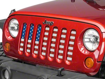 RedRock 4x4 Mesh Grille Insert - Old Glory (07-18 Jeep Wrangler JK)