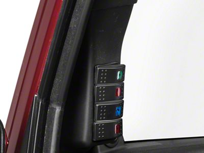 RedRock 4x4 A-Pillar 4-Switch Panel (07-18 Jeep Wrangler JK)