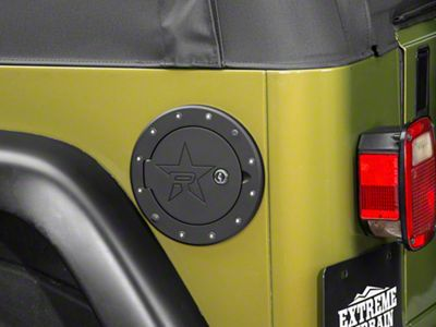 RBP RX-2 Locking Fuel Door - Black (97-06 Jeep Wrangler TJ)