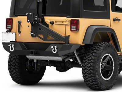 Barricade Trail Force HD Rear Bumper w/ E-Z Open Tire Carrier (07-18 Jeep Wrangler JK)