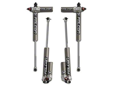 Teraflex Falcon Series 3.3 Adjustable Piggyback Front & Rear Shocks for 0-2 in. Lift (07-18 Jeep Wrangler JK)