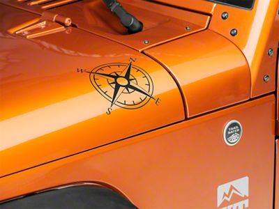 Small Compass Decal Set - Matte Black (87-19 Jeep Wrangler YJ, TJ, JK & JL)