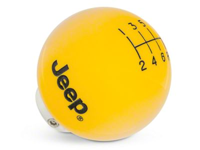 Speed Dawg Shift Knob w/ Jeep Logo - Yellow (11-18 Jeep Wrangler JK)