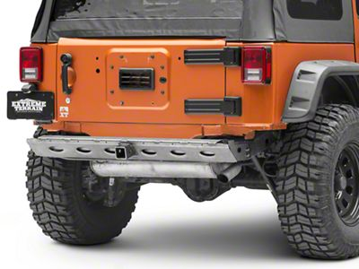 Poison Spyder BFH II Rear Crossmember w/ Hitch - Bare Steel (07-18 Jeep Wrangler JK)