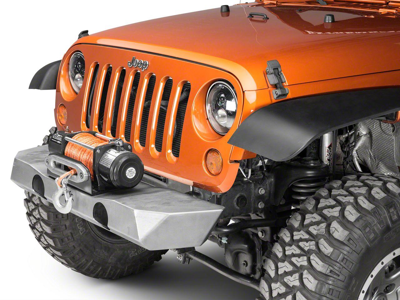 Poison Spyder Brawler Lite Front Bumper - Bare Steel (07-18 Jeep Wrangler JK)