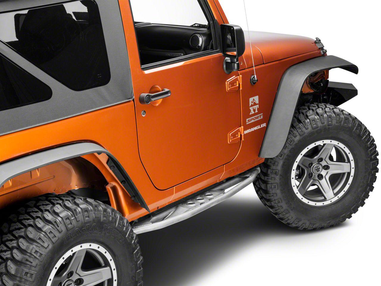 Poison Spyder Frame Mounted Ricochet Rockers (07-18 Jeep Wrangler JK 2 Door)