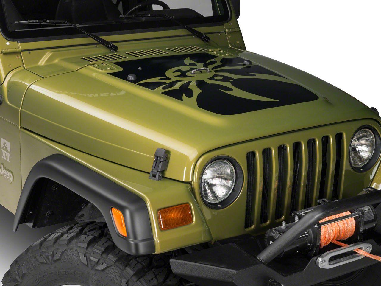 Poison Spyder Mountain Spyder Hood Decal - Black (97-06 Jeep Wrangler TJ)
