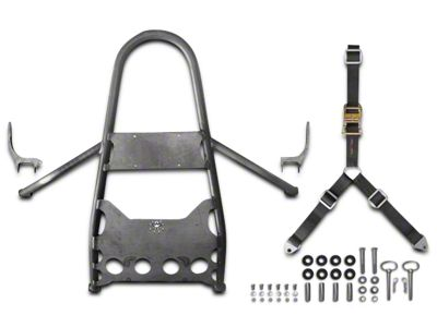 Poison Spyder DIY Rear Stinger Tire Carrier - Bare Steel (97-06 Jeep Wrangler TJ)