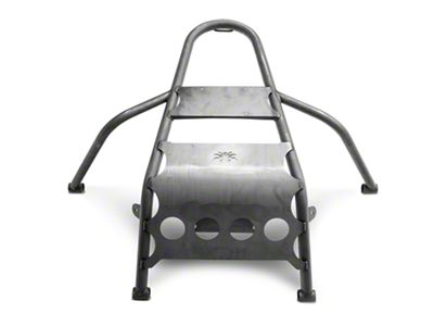 Poison Spyder Rear Stinger Tire Carrier - Bare Steel (97-06 Jeep Wrangler TJ)