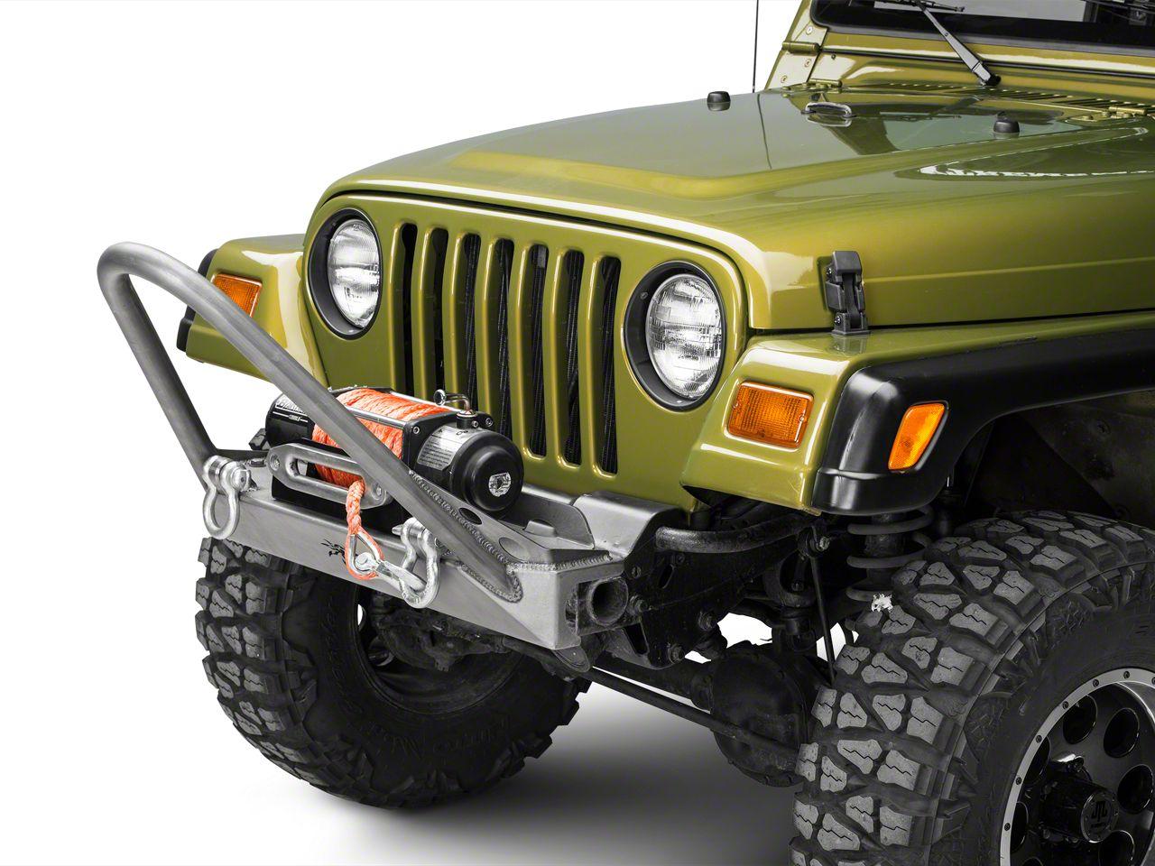 Poison Spyder BFH Front Bumper w/ Trail Stinger & Shackle Tabs - Bare Steel (97-06 Jeep Wrangler TJ)