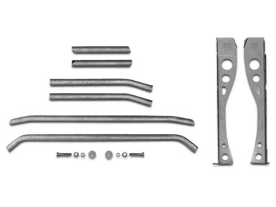 Poison Spyder Trail Cage Kit for Factory Roll Bars (97-06 Jeep Wrangler TJ)