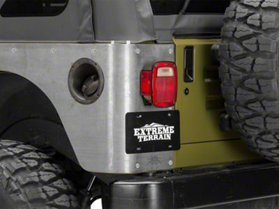 Poison Spyder Stock Crusher Corner Guards - Bare Steel (97-06 Jeep Wrangler TJ)