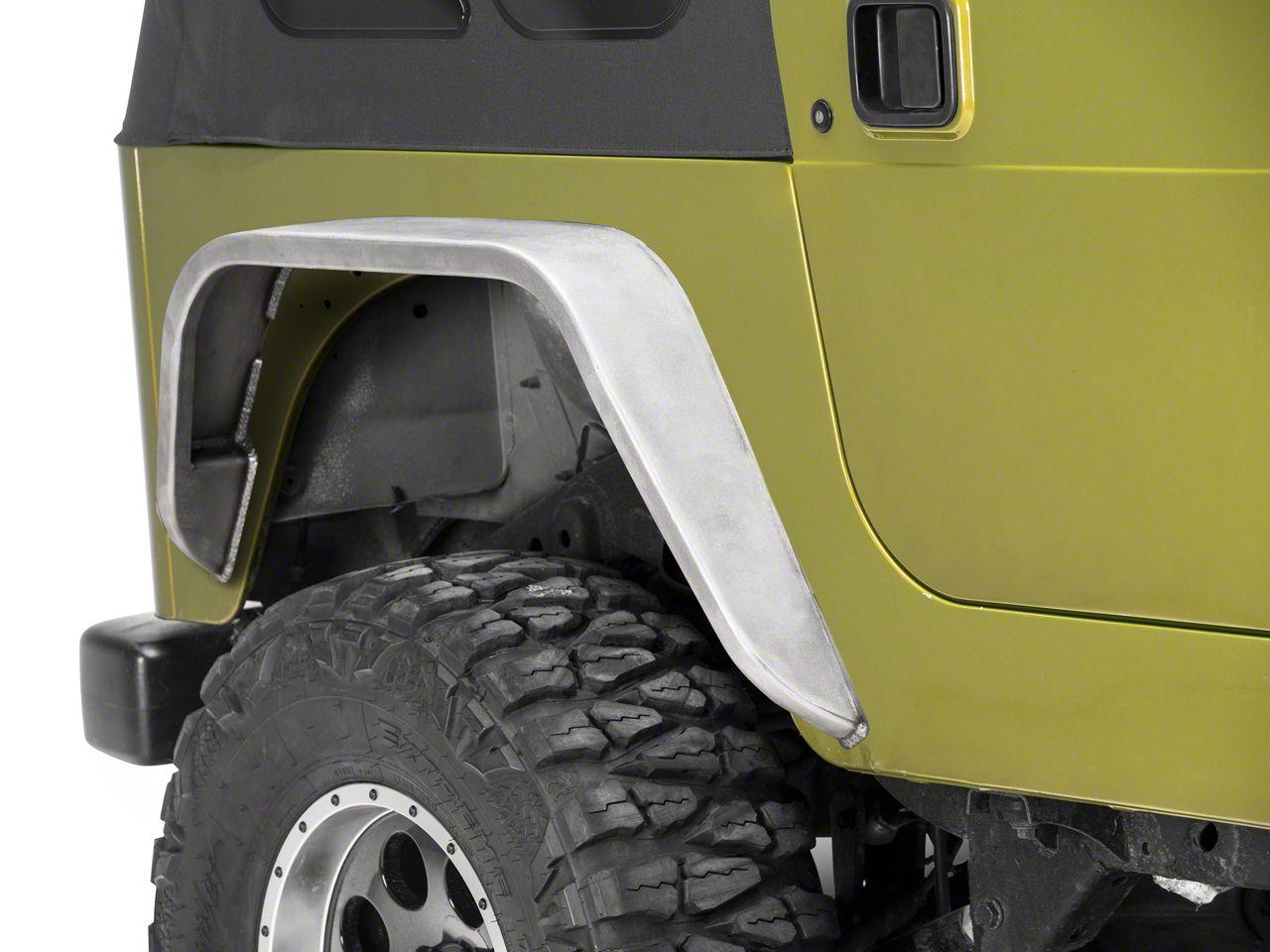 Poison Spyder 5 in. Rear Weld-On DeFender Flares - Bare Steel (97-06 Jeep Wrangler TJ)