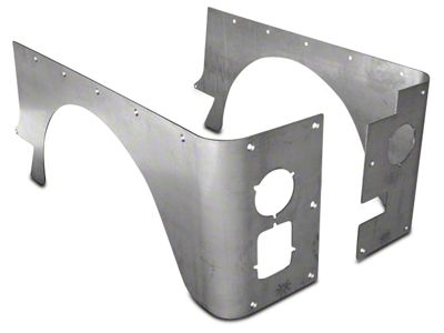 Poison Spyder Stock Crusher Corner Guards - Bare Aluminum (87-95 Jeep Wrangler YJ)