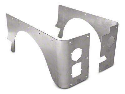 Poison Spyder Standard Crusher Corner Guards - Bare Aluminum (87-95 Jeep Wrangler YJ)