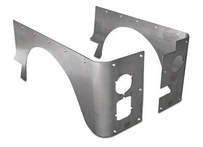 Poison Spyder Standard Crusher Corner Guards - Bare Steel (87-95 Jeep Wrangler YJ)