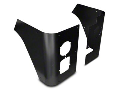 Poison Spyder Trail Corner Guards w/ Round LED Tail Light Cutouts - Black (87-95 Jeep Wrangler YJ)
