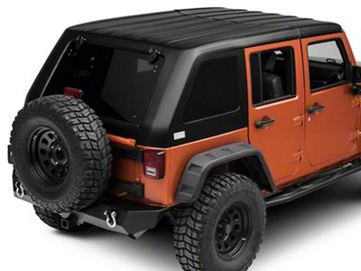 American Fastback Freedom Fastback Targa Hard Top - Textured Black (07-18 Jeep Wrangler JK 4 Door)