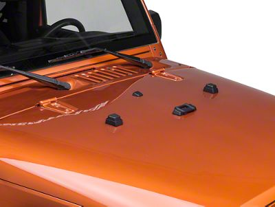 Rugged Ridge Elite Hood Dressup Kit (97-18 Jeep Wrangler TJ & JK)
