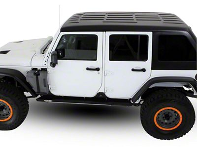 American Fastback Freedom Fastback Solid Hard Top - Textured Black (07-18 Jeep Wrangler JK 4 Door)