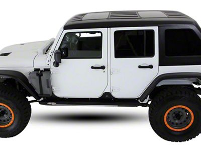American Fastback Freedom Fastback Double Sunroof Hard Top - Textured Black (07-18 Jeep Wrangler JK 4 Door)