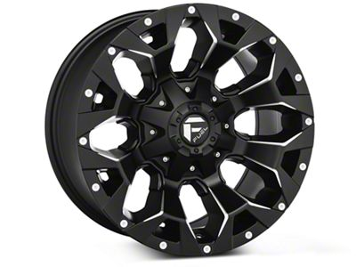 Fuel Wheels Assault Black Machined Wheels (07-18 Jeep Wrangler JK)
