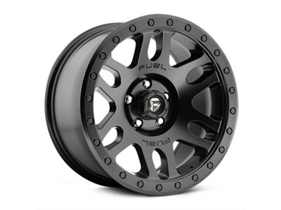 Fuel Wheels Recoil Matte Black Wheels (07-18 Jeep Wrangler JK; 2018 Jeep Wrangler JL)