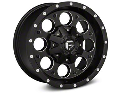 Fuel Wheels Revolver Black Milled Wheels (07-18 Jeep Wrangler JK; 2018 Jeep Wrangler JL)