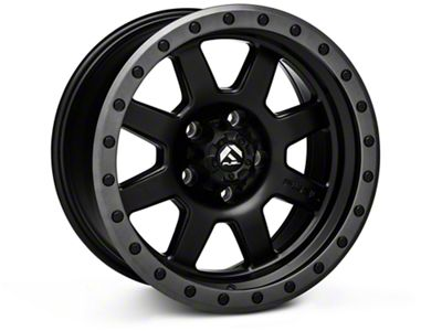 Fuel Wheels Trophy Matte Black w/ Anthracite Ring Wheels (07-18 Jeep Wrangler JK)