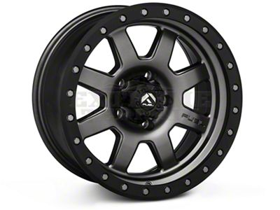 Fuel Wheels Trophy Matte Anthracite w/ Black Ring Wheels (07-18 Jeep Wrangler JK; 2018 Jeep Wrangler JL)