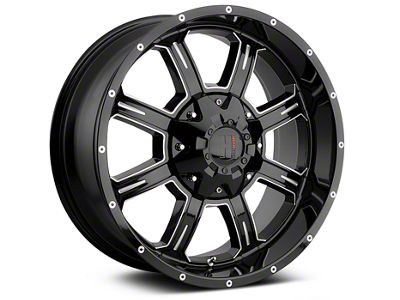Havok Off-Road H-101 Black Machined Wheels (07-18 Jeep Wrangler JK; 2018 Jeep Wrangler JL)