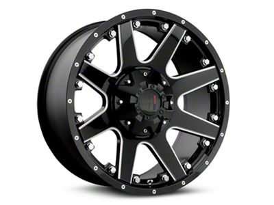 Havok Off-Road H-102 Black Machined Wheels (07-18 Jeep Wrangler JK; 2018 Jeep Wrangler JL)
