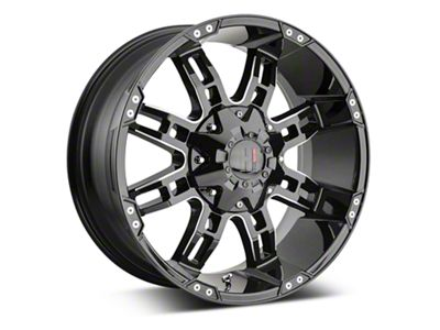 Havok Off-Road H-103 Black Machined Wheels (07-18 Jeep Wrangler JK)