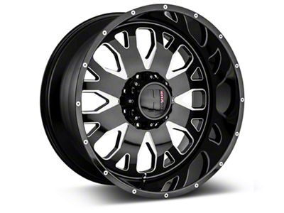 Havok Off-Road H-104 Black Machined Wheels (07-18 Jeep Wrangler JK; 2018 Jeep Wrangler JL)