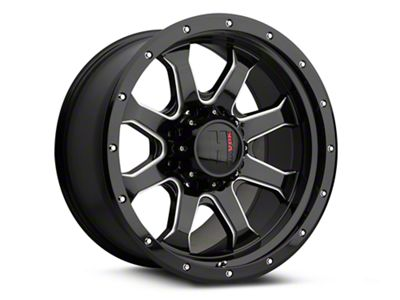 Havok Off-Road H-105 Black Machined Wheels (07-18 Jeep Wrangler JK; 2018 Jeep Wrangler JL)