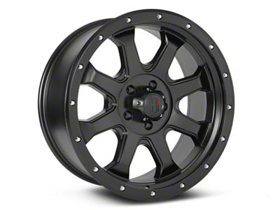 Havok Off-Road H-105 Matte Black Wheels (07-18 Jeep Wrangler JK; 2018 Jeep Wrangler JL)