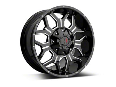 Havok Off-Road H-106 Black Machined Wheels (07-18 Jeep Wrangler JK; 2018 Jeep Wrangler JL)