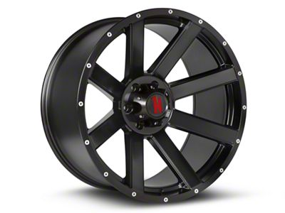 Havok Off-Road H-107 Matte Black Wheels (07-18 Jeep Wrangler JK; 2018 Jeep Wrangler JL)